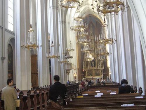 La iglesia de los Agustinos donde se casó en abril de 1853, a los 16 años.