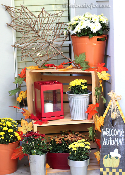 Fall exterior decorations
