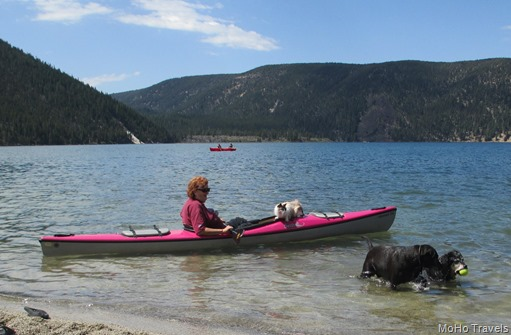 Jeremy goes kayaking while the doge play
