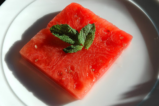 Watermelon Infused with Coconut Water and Mint