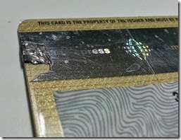 BDO American Express credit card - repaired (back)