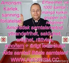 DSC05835.JPG .JPG Bibel med Fredrik Vesterberg biskop Amoristerna symbol och svart skjorta 2 3  text och amorism