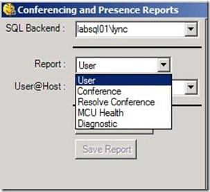 Lync - Snooper - Conf Pres reports