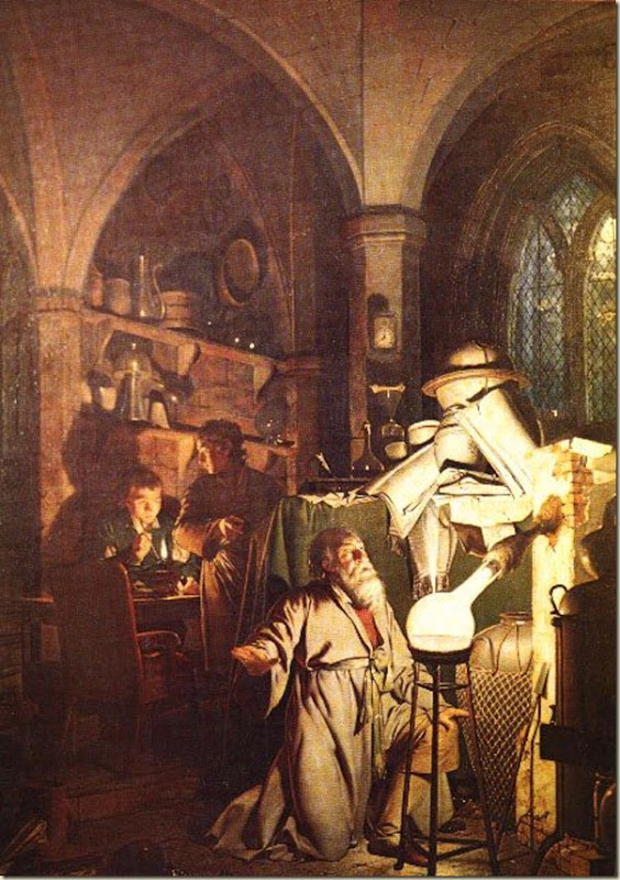 Joseph Wright of Derby, L'alchimiste