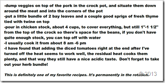 2nd page, Krissy's Crock Pot Pork recipe