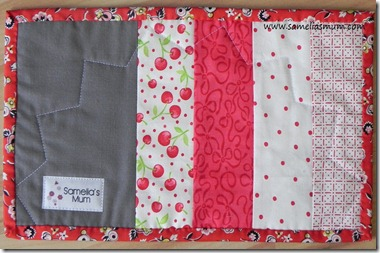Dresden Plate Block Back