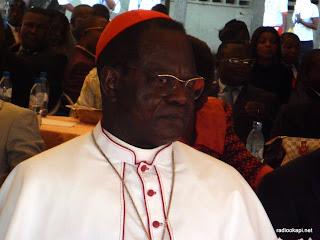 Cardinal Laurent Mosengo Pasinya lors d'une réception à Kinshasa, janvier 2011.