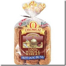 Whole wheat hot dog buns