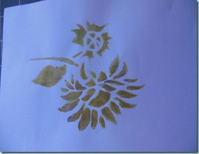 Stencil shav cream paints