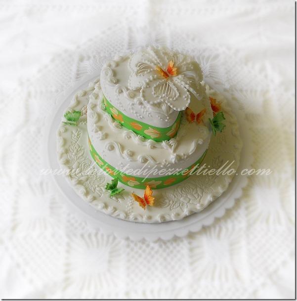 Torta royal icing scrolls