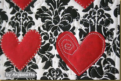 heart wall hanging by Anjeanette