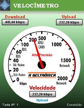 Medir a Velocidade da Internet A Beltrónica