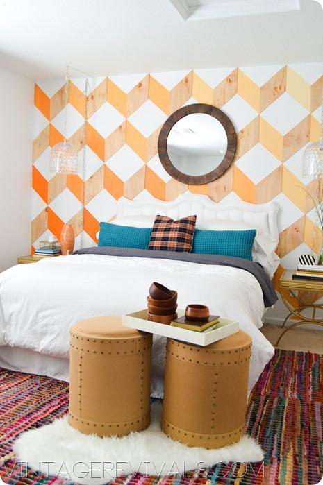 Ombre Wooden Wall DIY vintagerevivals.com