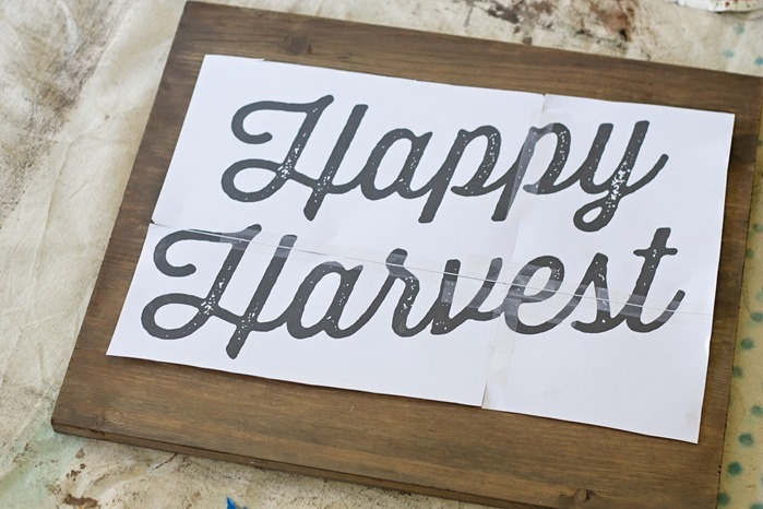 Happy Harvest Halloween Sign, DIY and tutorial