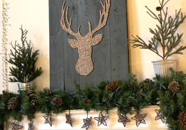 Reindeer artwork mantel