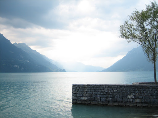 Brienzer See. One of the two lakes Interlaken is nestled betwe... hey, I get it now!