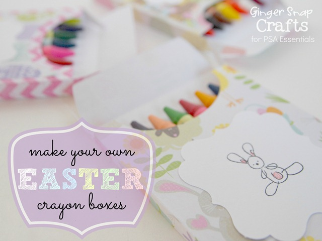 make your own Easter crayon boxes with PSA Essentials