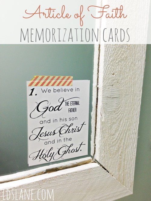 Article of Faith Memorization Cards by ldslane.com
