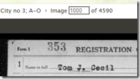 Image number of an image on FamilySearch.org