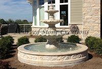 8' Round Acanthus Fountain Surround, Giallo Fantasia Y