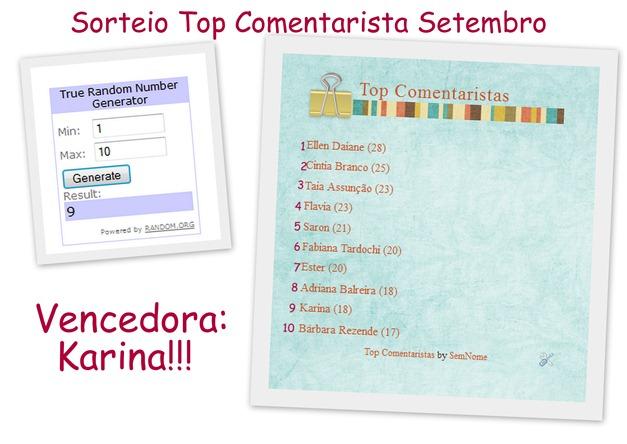 sorteio top comentaristas de setembro