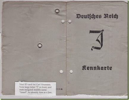 Carl Heumann Nazi ID card - side 1