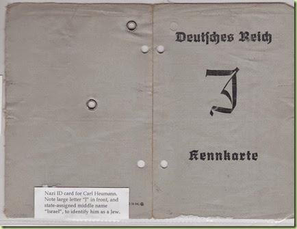 Carl Heumann Nazi ID card - side 1