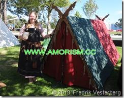 DSC08506.JPG Vikinga2. Kvinna viking vikingautställning. Med amorism