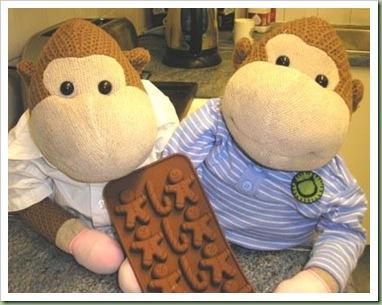 Gingerbread man mould