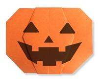 origami calabaza halloween