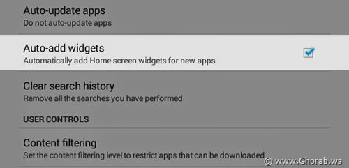 Android Auto-add Widgets