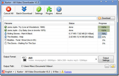 Kastor All Video Downloader