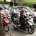 道路のバイク