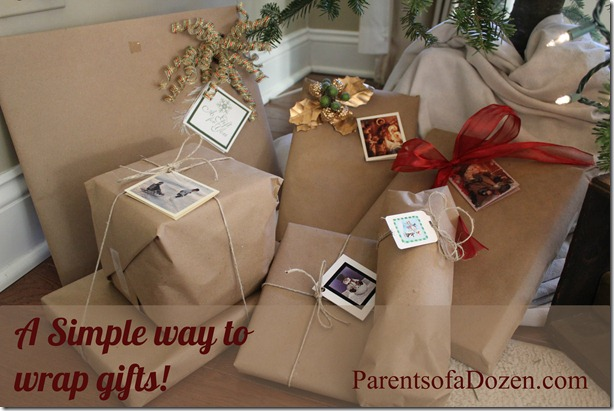 A Simple way to wrap gifts!