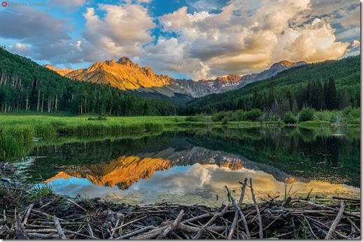 Mt. Sneffels Reflection - San Juan Mountains, Colorado...Stock id #2546