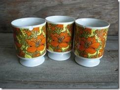floral vintage mugs cups