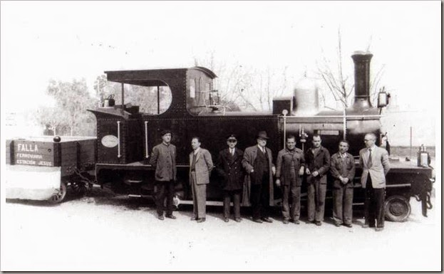 1953 Falla Ferroviaria Estación Jesús.-Vicente Matoses