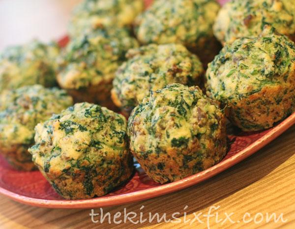 Sausage spinach muffins