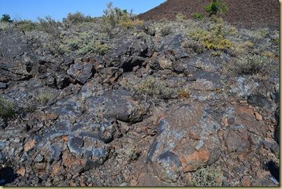 Lava flow showing Titanium Magnetite