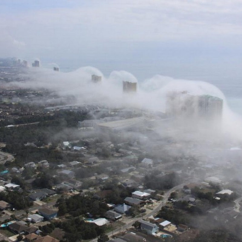 Fantastic Condo Wave Cloud Hits Florida Coast
