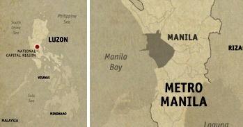 Location Map Manila