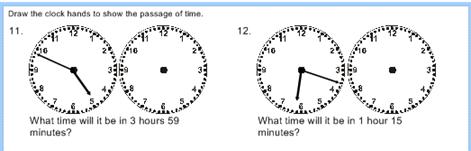 ใบงานเรื่องเวลาของวิชาคณิตศาสตร์