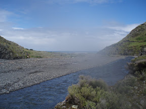 The mouth of the Mangatoetoe Stream and the Sea