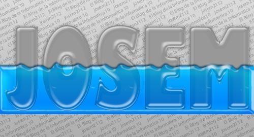 Texto relleno de líquido con Photoshop - opciones de fusión líquido