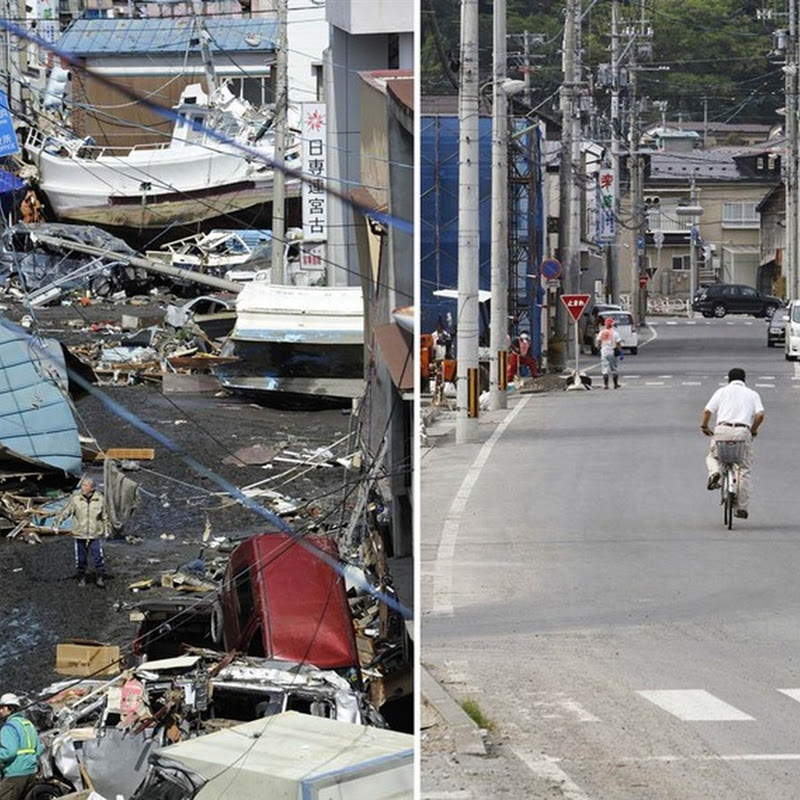 Before And After Pictures of Japan's Tsunami Cleanup Progress