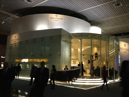 Patek Philippe's area was equally impressive all glass facade and spiral