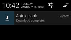 بعد تحميل التطبيق على جهازك الأندرويد سوف يظهر فى بار الملاحظات