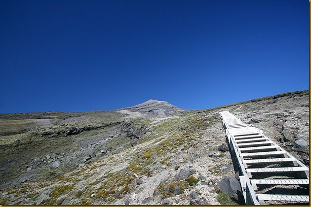 Staircase up Mount Taranaki