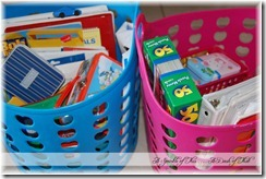 Toy Baskets for Traveling {A Sprinkle of This . . . . A Dash of That}