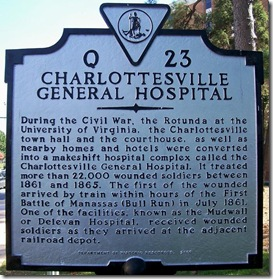Charlottesville General Hospital, marker Q-23 Charlottesville, VA